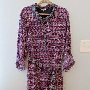 Modcloth 4X Block Print Boho Shirt Dress 26W 28W